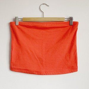 coral soft stretch vintage 90s cropped tube top